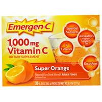 1,000 mg Vitamin C, Super Orange, 30 Packets, 0.32 oz (9.1 g) Each