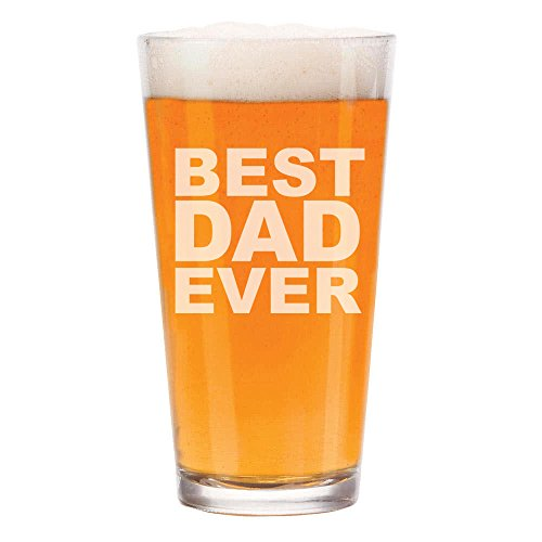 16 oz Beer Pint Glass Best Dad Ever by
