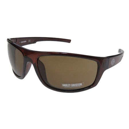 Brown Gray Lens Sunglasses (Harley-Davidson Men's Kickstart B&S Sunglasses, Brown Frame & Brown Acrylic Lens, Harley Davidson)