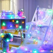 String Wedding Christmas Snowflake 10 LED Fairy Decor Operated Lights Party(6.6ft- Multicolor)