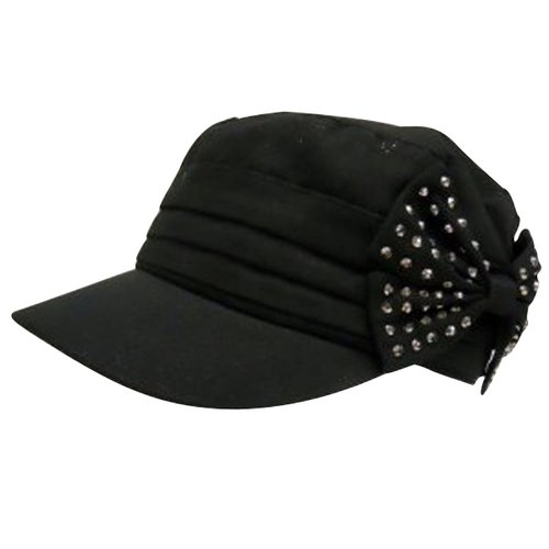 Bio-World Merchandising Side Bow Cadet Hat, Black