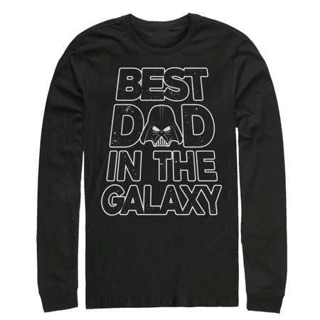 Star Wars Men's Father's Day Best Dad Darth Vader Helmet Long Sleeve