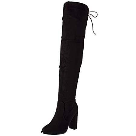 Womens Olygmagen Faux Suede Covered Thigh-High Boots