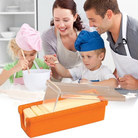 Jeobest Butter Cutter Container - Butter Slicer and Keeper - Butter Keeper and Slicer Cutter Storage Container for Storage Measure Butter Make Bread Cake Cookies Baking Tool 5.3 x 1.6 x 1.6 Inch MZ - Easy To Make Halloween Cakes