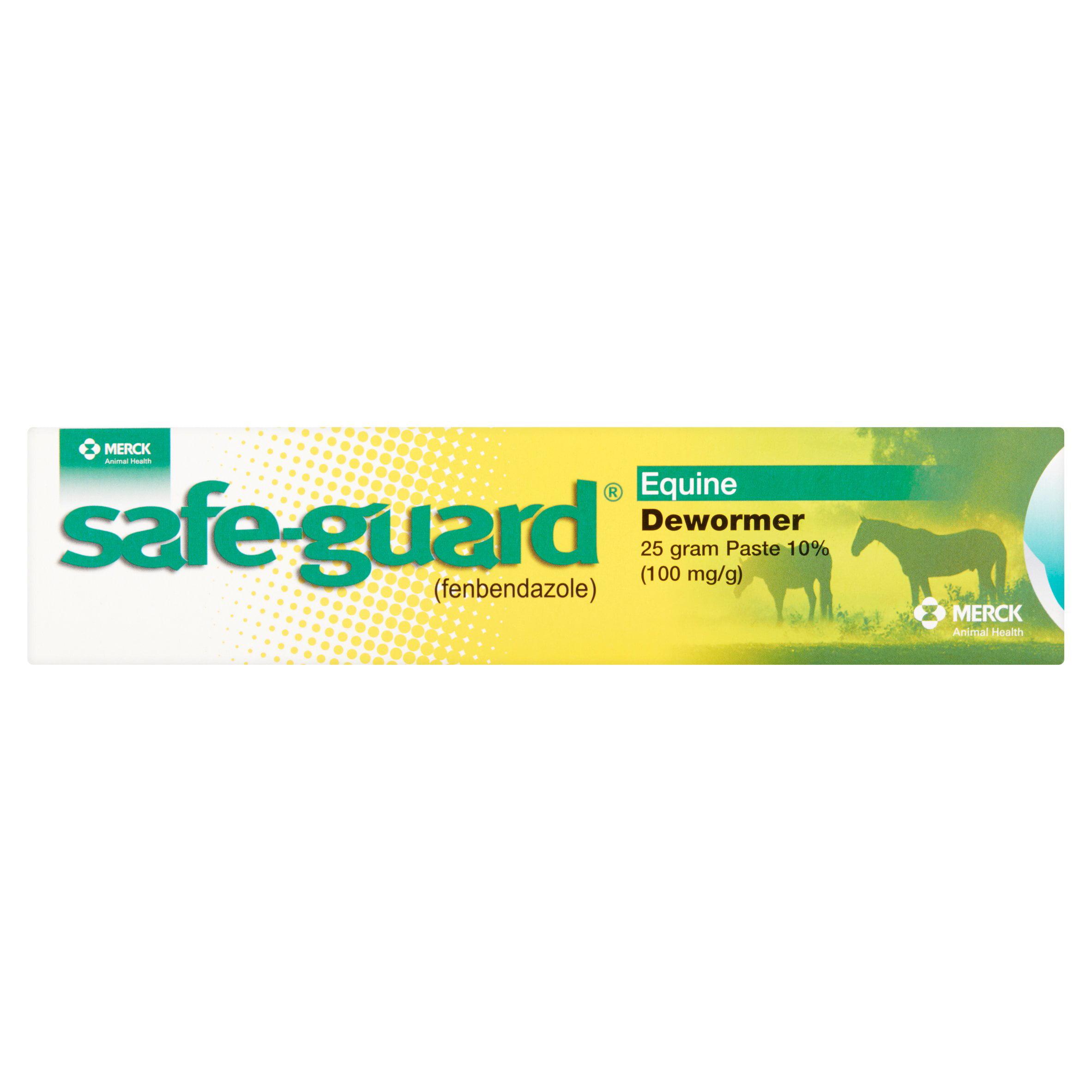 Merck Safe-Guard (Fenbendazole) Equine Dewormer Paste 10%, 100 mg/g, 25 g