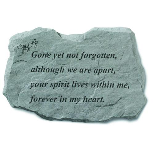 Kay Berry 'Gone Yet Not Forgotten' Garden Accent Stone by Overstock