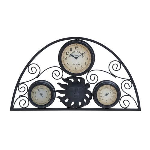 Woodland Imports Wall Clock Hygrometer