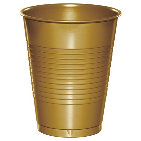 Glittering Gold Plastic Cups for 20 Guests