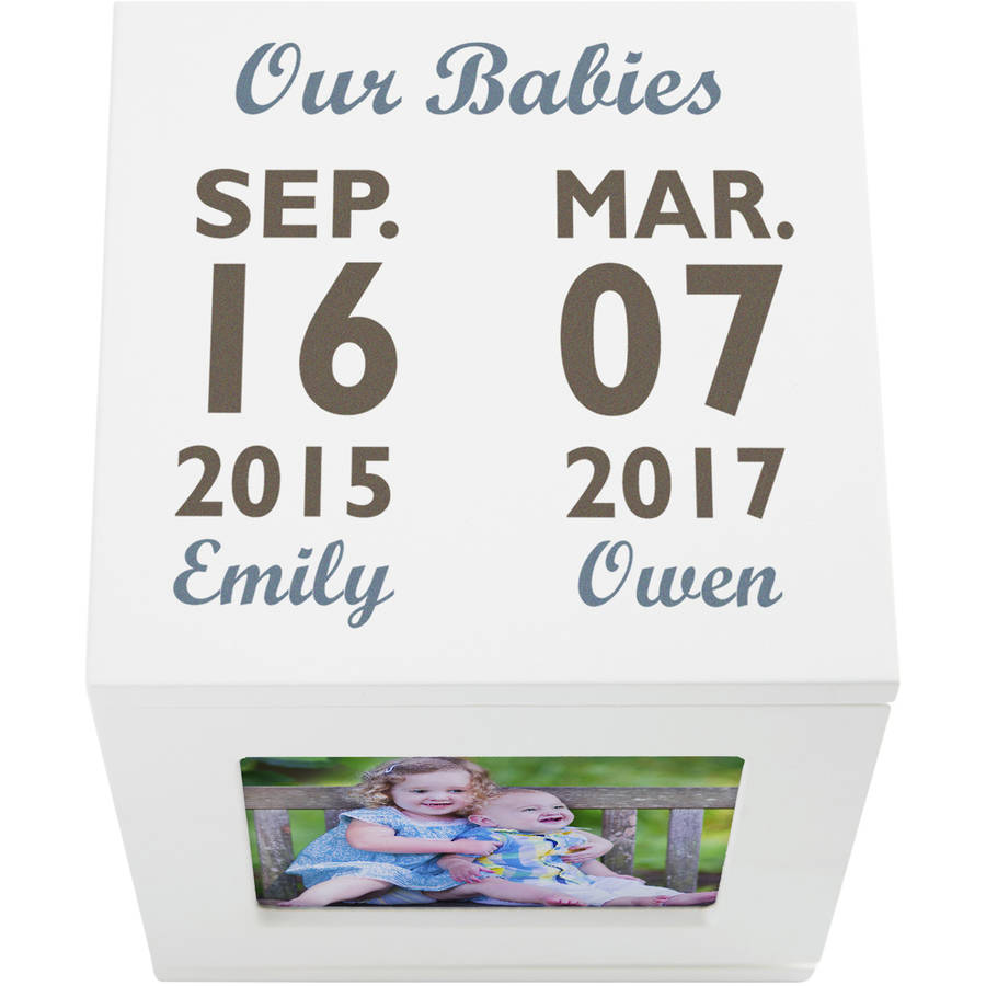 Personalized Our Best Days Rotating Keepsake Photo Box-Available in 2 Colors