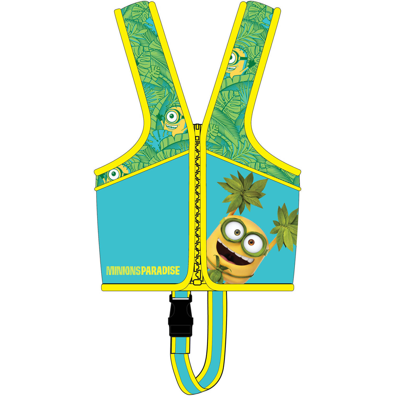 Universal Minions Swim Trainer Vest/Goggle Bundle Pack, 4 yr+
