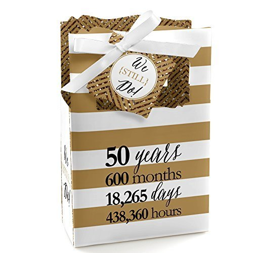 We Still Do - 50th Wedding Anniversary Party Favor Boxes - Set of 12