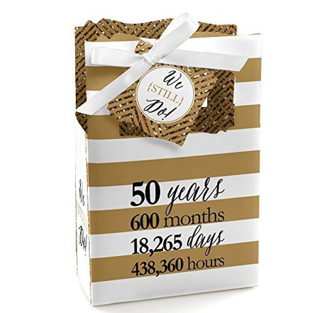 We Still Do - 50th Wedding Anniversary Party Favor Boxes - Set of 12 - Halloween Wedding Anniversary Party