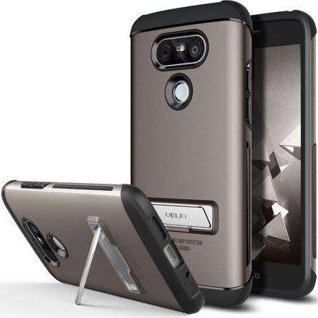 LG G5 Case, OBLIQ [Skyline Advance][Gun Metal] with Metal Kickstand Thin Dual Layered Metallic Heavy Duty Hard Protection Hybrid High Quality Case for LG G5 - Products Aluminum Metal Hard Case