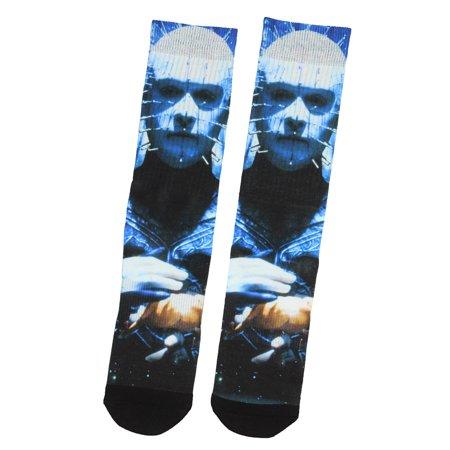 Hellraiser Poster Pinhead Character Sublimated Crew Socks - Hellraiser Pinhead Mask