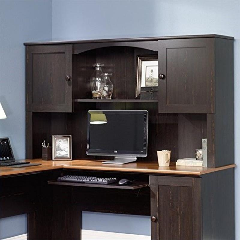 Sauder Office Furniture Harbor View Hutch (does Not Include Desk) In  Antiqued Paint