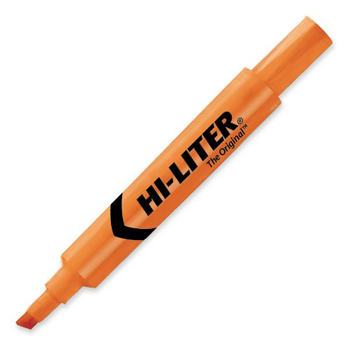 Avery Hi-liter Desk Style Highlighter Chisel Marker Point Style Fluorescent Orange Ink Orange Barrel 12  ... by Avery Dennison