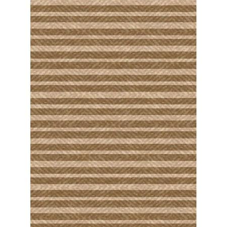 International Merchandise Services Woven Indoor  Outdoor Summer Stripe Brown  Beige Patio Rug  110 X 211