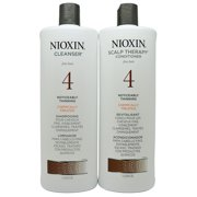 ($82 Value) Nioxin System 4 Cleanser & Scalp Therapy Shampoo and Conditioner Duo, 33.8 Fl Oz