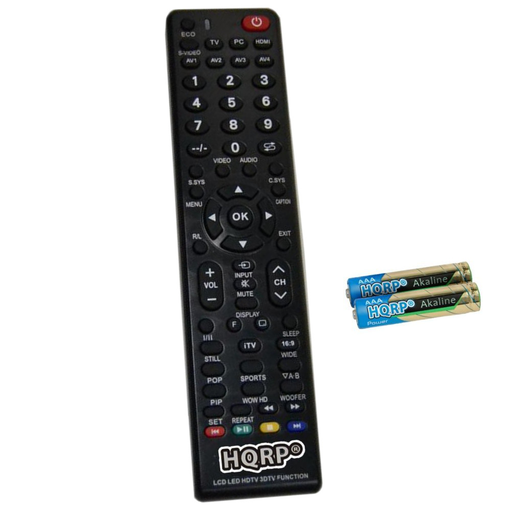 HQRP Remote Control for Sanyo MC42NS00, 8TV398GRABD2, GXCC, GXBE, GXBG, GXBC, GXCF, JXPPB, JXPPL, JXPPG LCD LED HD TV Smart 1080p 3D Ultra 4K + HQRP Coaster