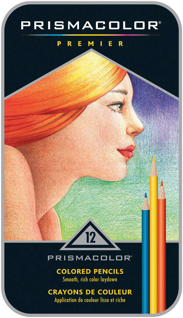 Prismacolor Premier Colored Pencils 12/Pkg-W/Bonus Art Stix