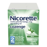 Nicorette Nicotine Lozenge to Stop Smoking, 2mg, Mint, 144 Count