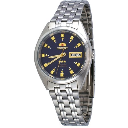- Orient FAB00009D Men's 3 Star Stainless Steel Dark Blue Dial Automatic Watch