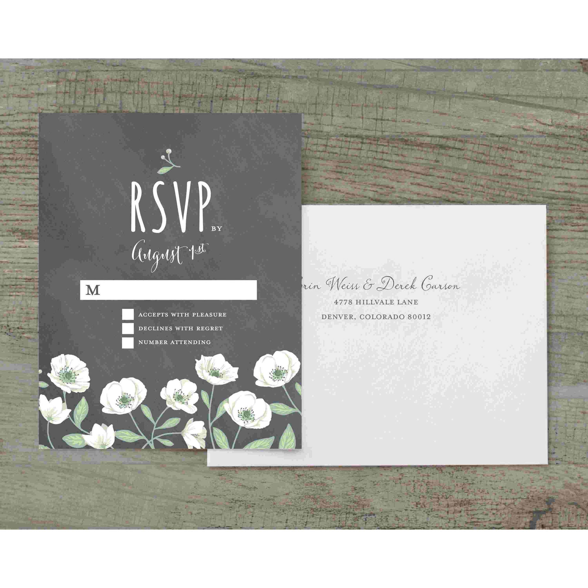 Wedding Flowers Deluxe RSVP