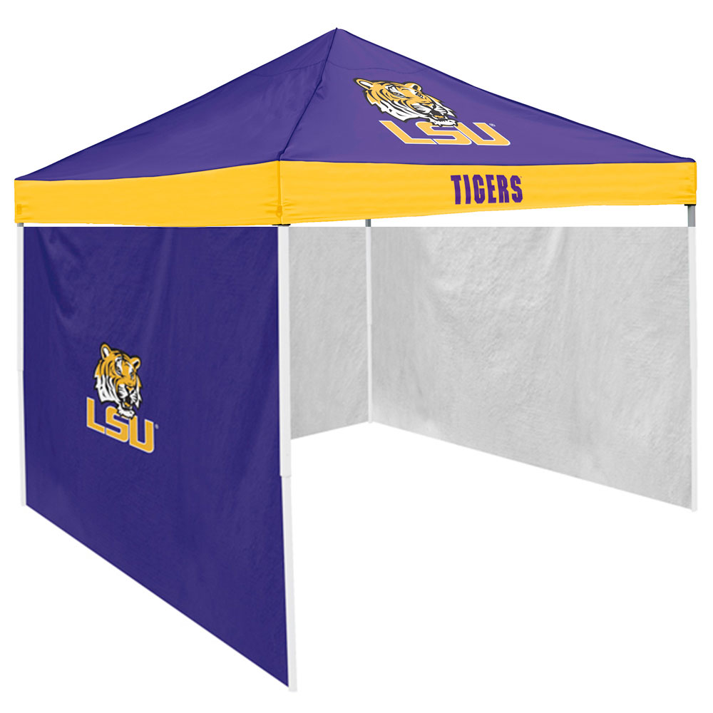 LSU Tigers NCAA 9' x 9' Economy 2 Logo Pop-Up Canopy Tailgate Tent