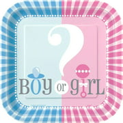 Gender Reveal Party Paper Dessert Plates, 7in, 10ct