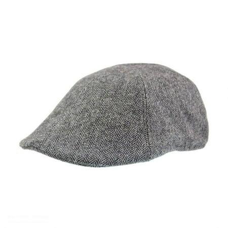 Herringbone Wool Blend Duckbill Ivy Cap - XXL - Gray