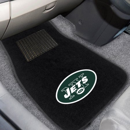 New York Jets 2-Piece Embroidered Car Mat Set - No