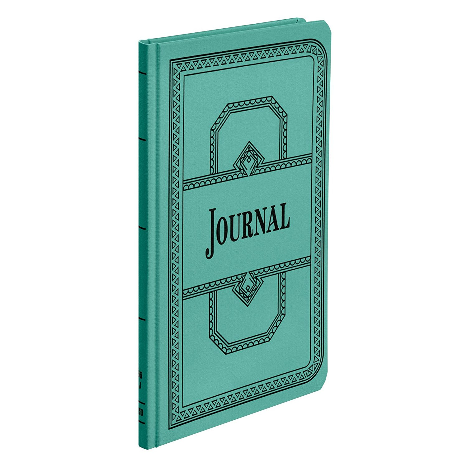 "66 Series Account Book, Journal Ruled, Green, 150 Pages, 12-1 8"" x 7-5 8"" (66-150-J), Account books... by"