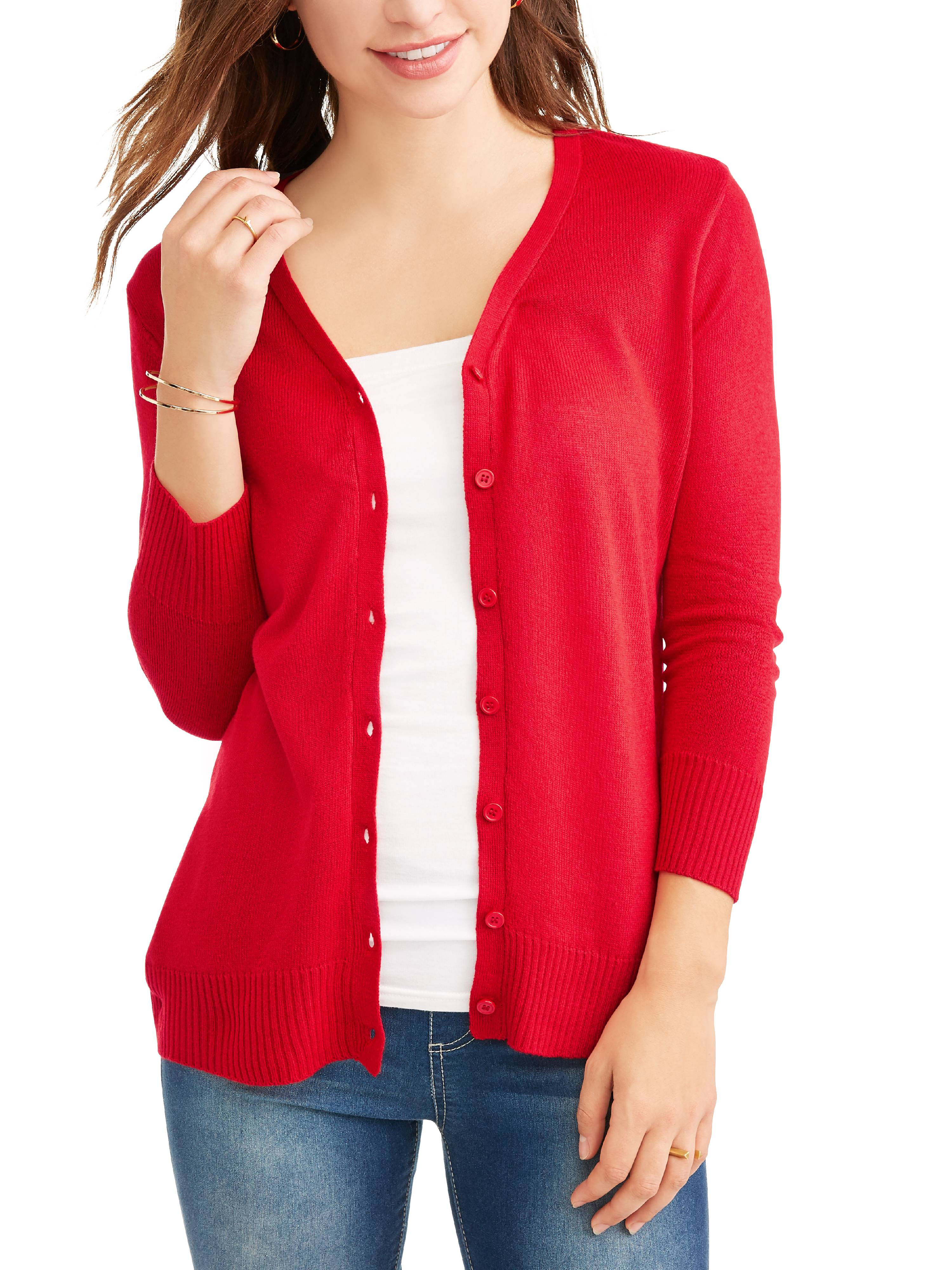 Women's Everyday V-Neck Button-Down Cardigan by CUDLIE- 12.28