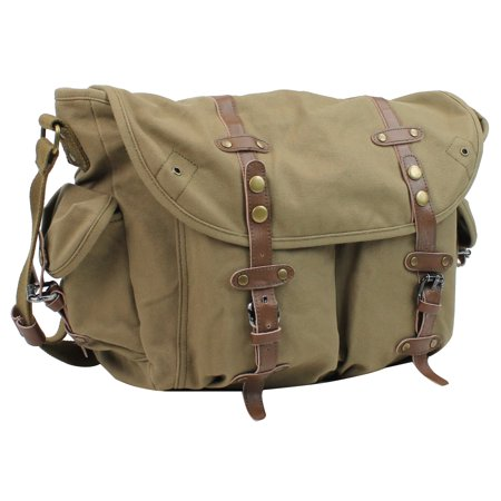 "Vagarant Traveler 17"" Large Casual Messenger Shoulder Bag C55.MG"