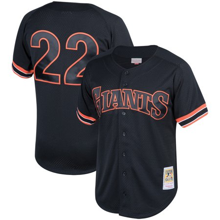 Will Clark San Francisco Giants Mitchell & Ness Fashion Cooperstown Collection Mesh Batting Practice Jersey - Black ()