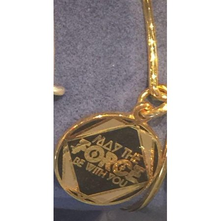 Parks Star Wars May the Force Bangle Alex & Ani Charm Gold finish Lucky Penny Charm