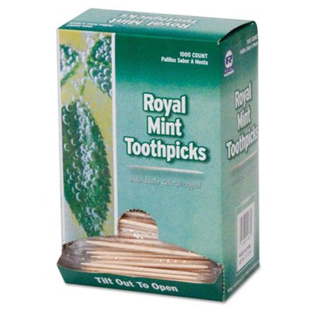 Rpp RM115 2. 75 inch Mint Cello-Wrapped Wood Toothpicks, Natural