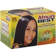 Africa's Best Dual Conditioning Relaxer System, Super, No-Lye 1 ea (Pack of 2)