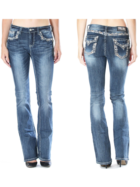 b68e6b43a66 Product Image GRACE IN LA SALE Mid Easy Bootcut Embellished Jeans
