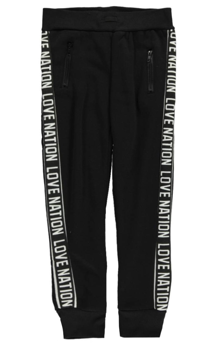 Joyce Concept Big Girls Logo Love Joggers-black