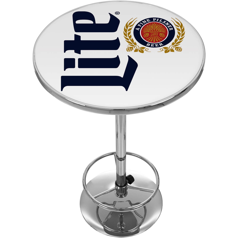 Miller Lite Chrome Pub Table, Retro by Trademark Global LLC