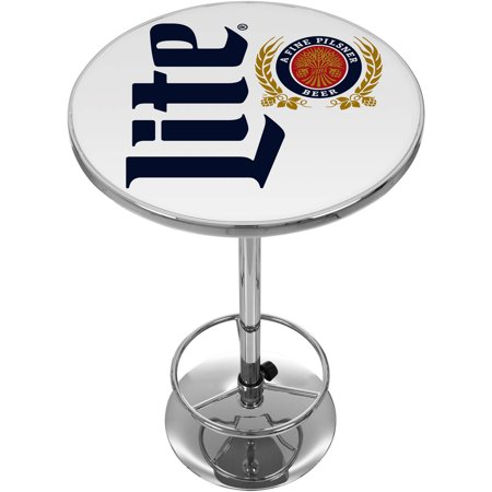 Miller Lite Chrome Pub Table, Retro