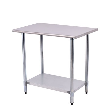 Costway 24\'\' x 36\'\' Stainless Steel Work Prep Table Commercial ...