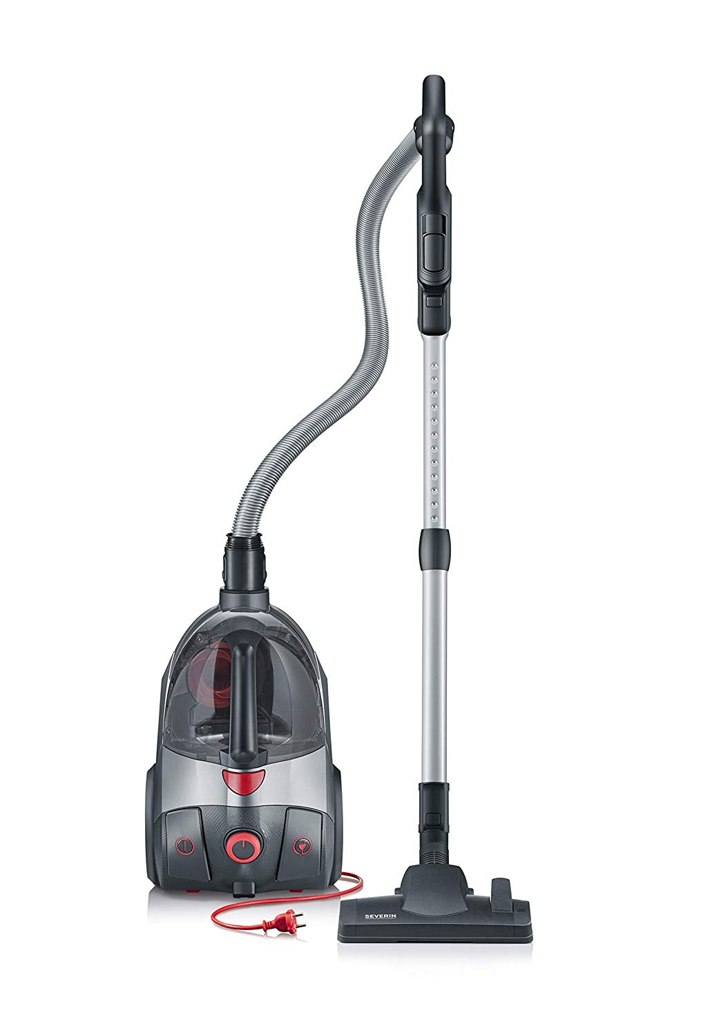 severin s 39 power extreme bagless canister vacuum cleaner midnight black. Black Bedroom Furniture Sets. Home Design Ideas