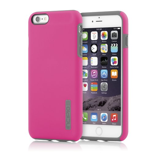 Incipio DualPro Case for iPhone 6 Plus, iPhone 6s Plus - Pink / Charcoal