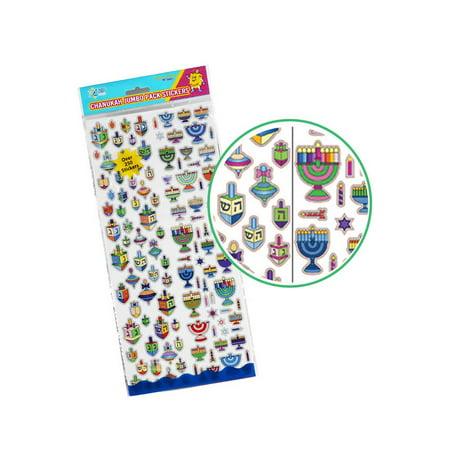 Chanukah Jumbo Pack PVC Stickers - Hanukkah Decorating Ideas