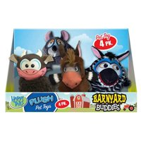 Happy Tails Barnyard Buddies Dog Toys, 4-count