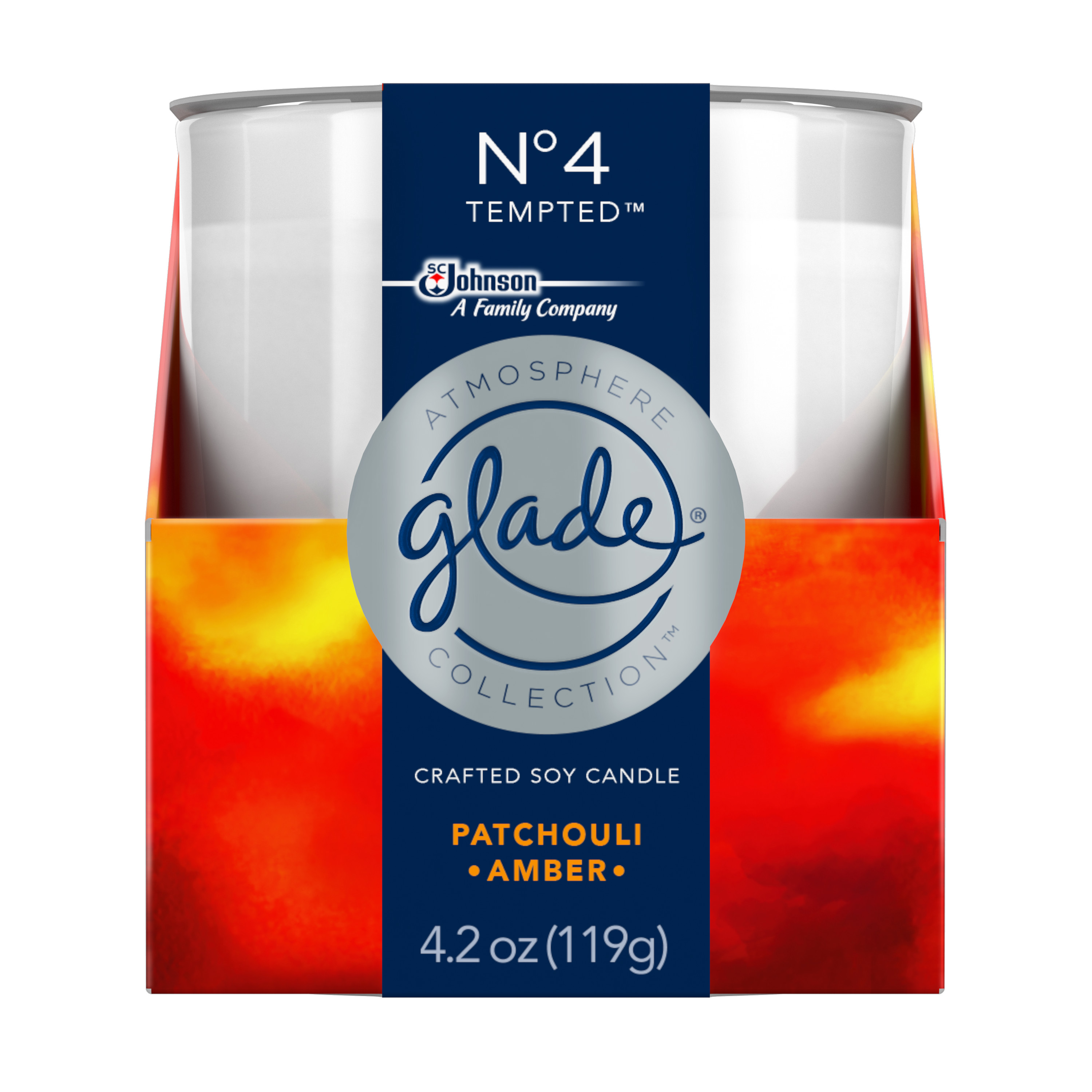 Glade Candle, Patchouli, 4.2 oz.