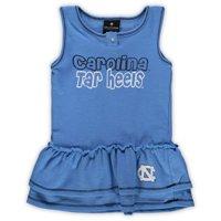 North Carolina Tar Heels Colosseum Girls Toddler Bonn Henley Dress - Carolina Blue
