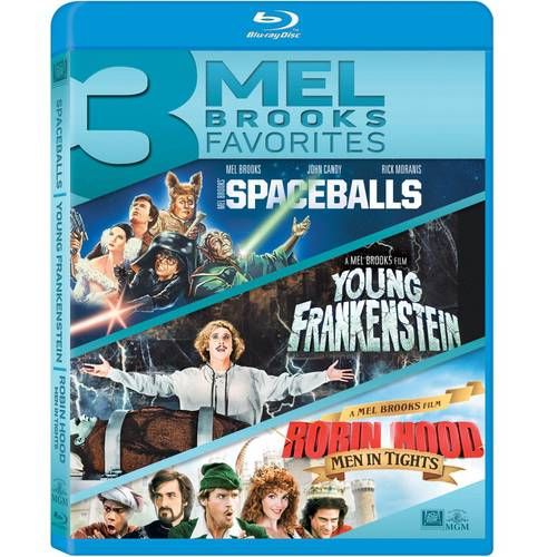 3 Mel Brooks Favorites: Spaceballs   Young Frankenstein   Robin Hood: Men In Tights (Blu-ray) (Widescreen) by